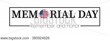 Memorial Day Background. Vector American Banner. Usa National Holiday.