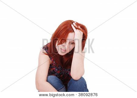 Young Woman In Depression