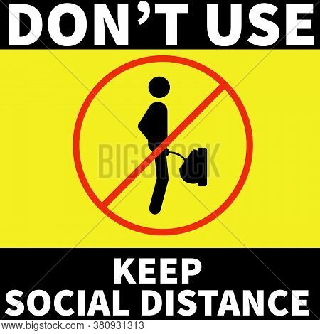 Don't Use The Toilet To Keep Social Distance. It Can Be Used In Shopping Mall, Office, Stores, Publi