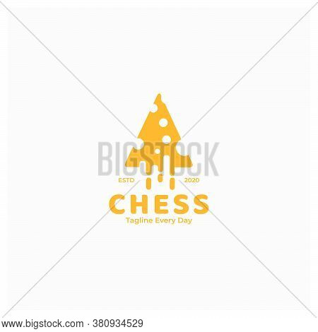 Technology Cheese Or Parmesan Or Milk Cheese Logo Design Vector