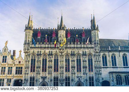 .bruges, Belgium - 14 November 2019: Old Building In Bruges, Belgium