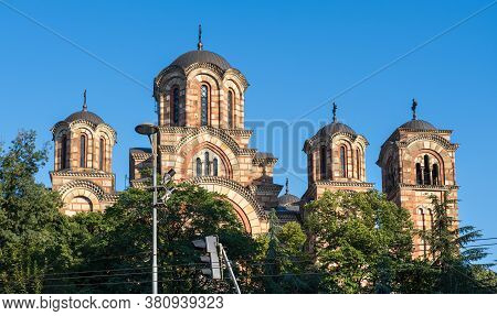 Serbian Orthodox St. Mark's Church (church Of St. Mark) In Belgrade, Serbia. It Was Built In The Ser