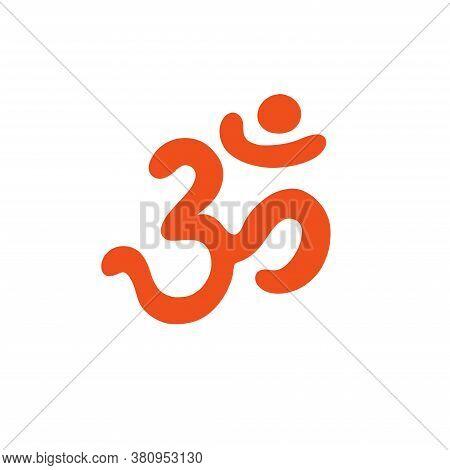 Om Sign Doodle Icon, Vector Color Illustration