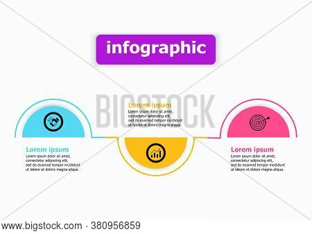 Infographics Vector Design Template Icon For Illustration. Planning Timeline Three Steps Infographic