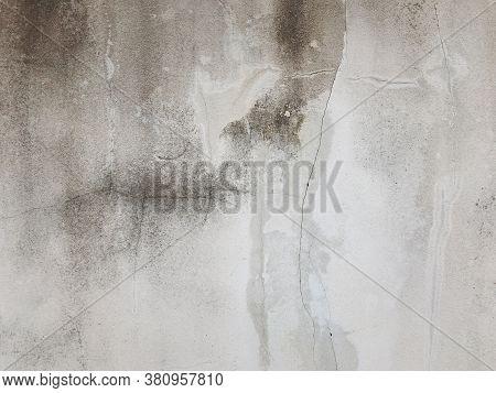 Cracked Cement Floor, Cracked Stone Wall,crack Concrete Floor Texture. Cement Concrete Is Damaged Fl