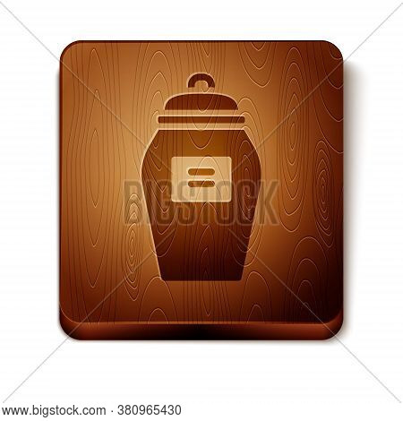 Brown Funeral Urn Icon Isolated On White Background. Cremation And Burial Containers, Columbarium Va