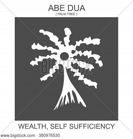 Vector Icon With African Adinkra Symbol Abe Dua. Symbol Of Wealth And Self Sufficiency