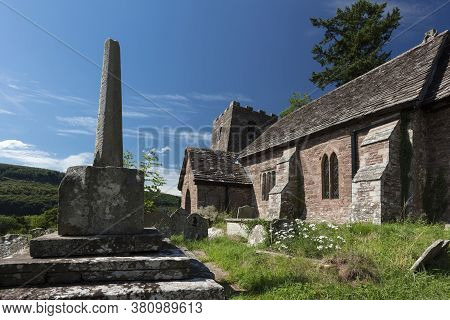 Cwmyoy, Monmouthshire, Wales, 7th August 2020, The Church Of St Martin With Its Famous Leaning Tower