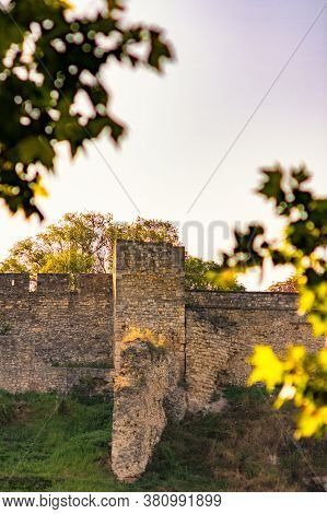 Remains Of Historic Belgrade Fortress In Kalemegdan Park In Belgrade, Capital Of Serbia