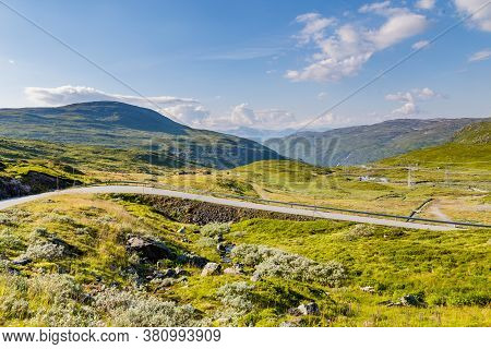 Scenics Along The National Scenic Route Aurlandsfjellet Between Aurland And Laerdal In Norway.