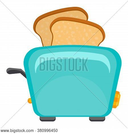 Domestic Toaster Icon. Cartoon Of Domestic Toaster Vector Icon For Web Design Isolated On White Back