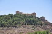 A medieval castle of a city of Teruel (Spain) poster