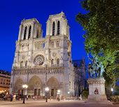 The cathedral Notre Dame de Paris in Paris France. poster