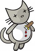 A vector cartoon Cat ready to end it all. Part of the Goodbye Kitty collection. poster