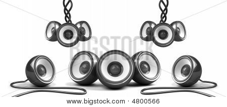 Black Stylish Futuristic Audio System