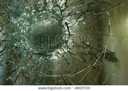 Shattered Window Glass