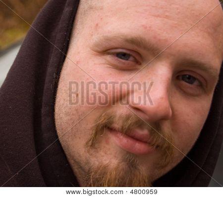 Closeup Of Young Caucasian Male