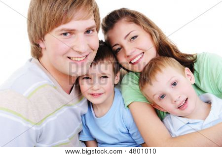 Portrait Of Loving Happy Young Family