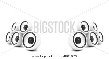 White Stylish Audio System