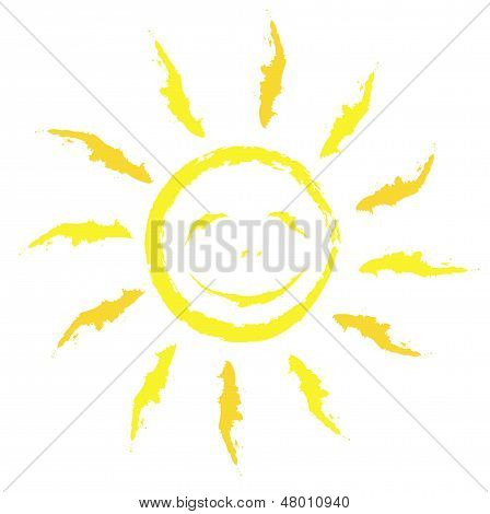 Fascinating sun in vector photographs