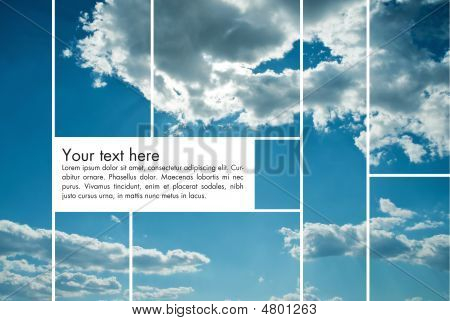 Sky Background With Text