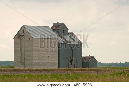Old fashioned rural grain elevator