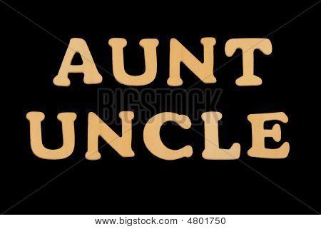 Wooden Word Aunt-uncle