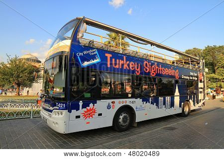 Sight seeing tourist bus