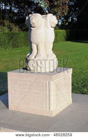 India in Flanders Fields Memorial, Ypres, Belgium