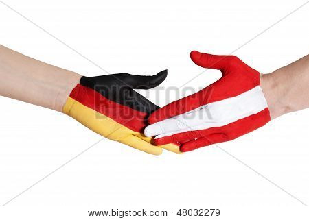 Austria And Germany Shaking Hands