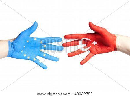 European And Turkey Hands