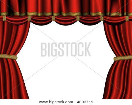 Curtain Of Red Velvet 03