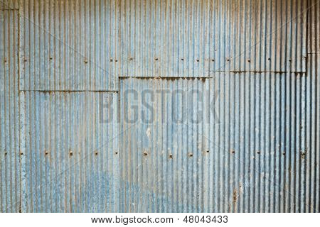 Grunge Corrugated Zinc Sheet