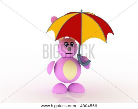 Bunny And Umbrella