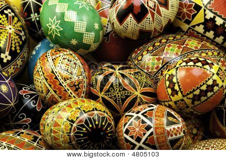 Stacked Pysanky