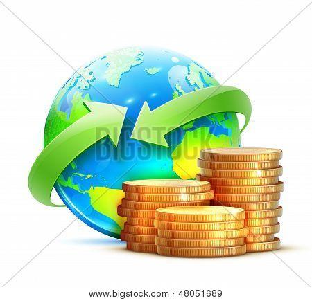 Global Money Transfer Concept