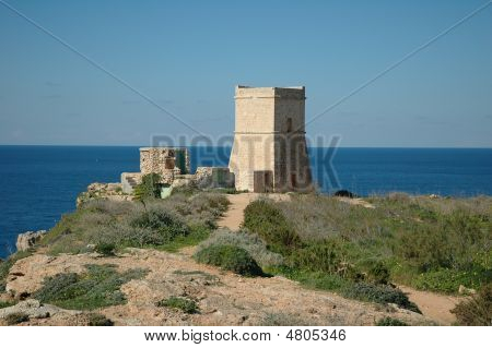 Tower On A Cliff. Malta