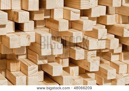 natural wood lath in different length poster