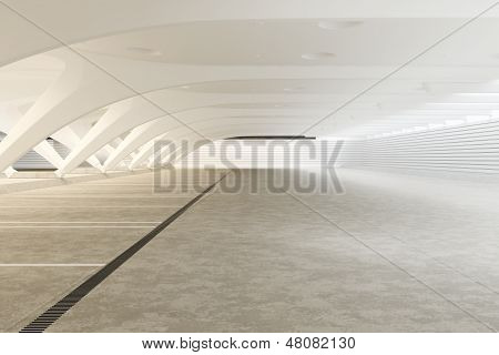 Modern futuristic empty abstract interior