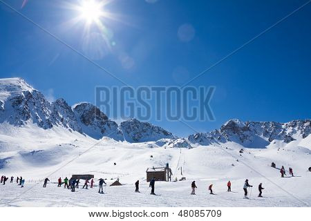 Winter Sport In Mountain