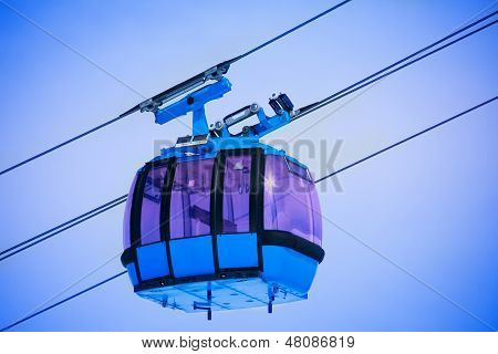 Close Up Of Cable Car