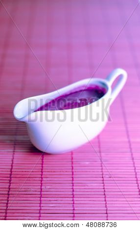 Sauce Boat With Lilac Sauce