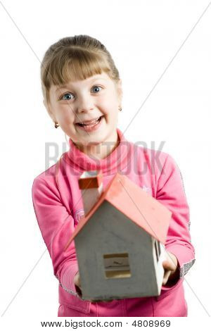 Girl With House