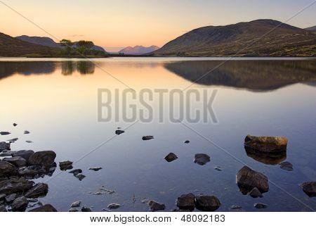 Loch Droma, Garve, Highlands, Scotland. Sunrise.