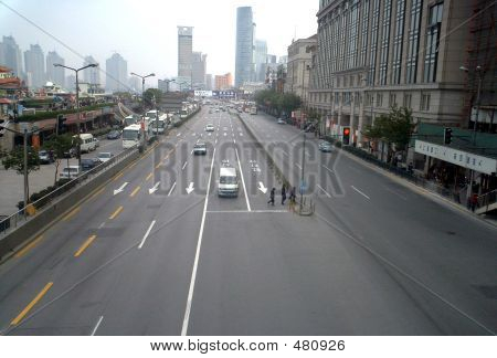 Road Of Waitan Shanghai