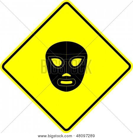 mexican wrestling mask sign