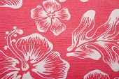 A background image of an orange hawaiian shirt. poster