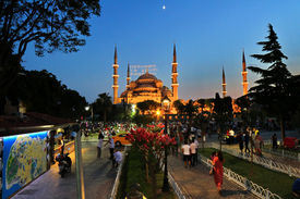 Blue Mosque in Holy Month of Ramadan in Istanbul Turkey