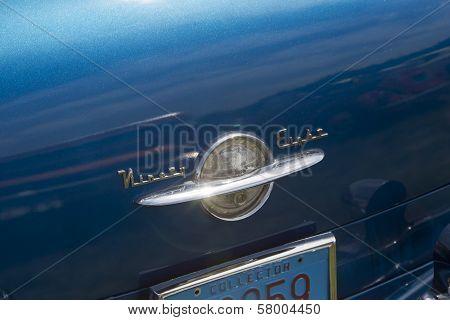 Blue Oldsmobile Ninety Eight Logo