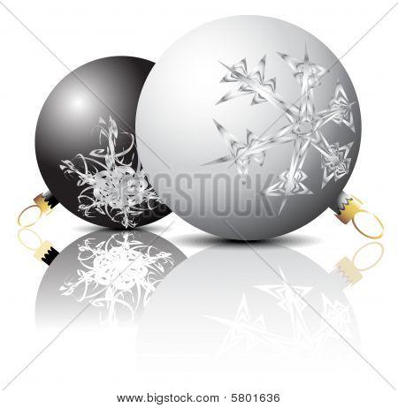 Black And White Christmas Bulbs